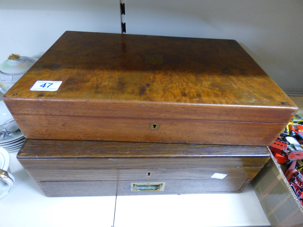 Lot 47 - 2 X WOODEN BOXES