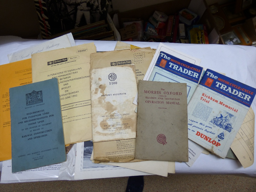Lot 17 - COLLECTION OF TRANSPORT RELATED BOOKS & EPHEMERA