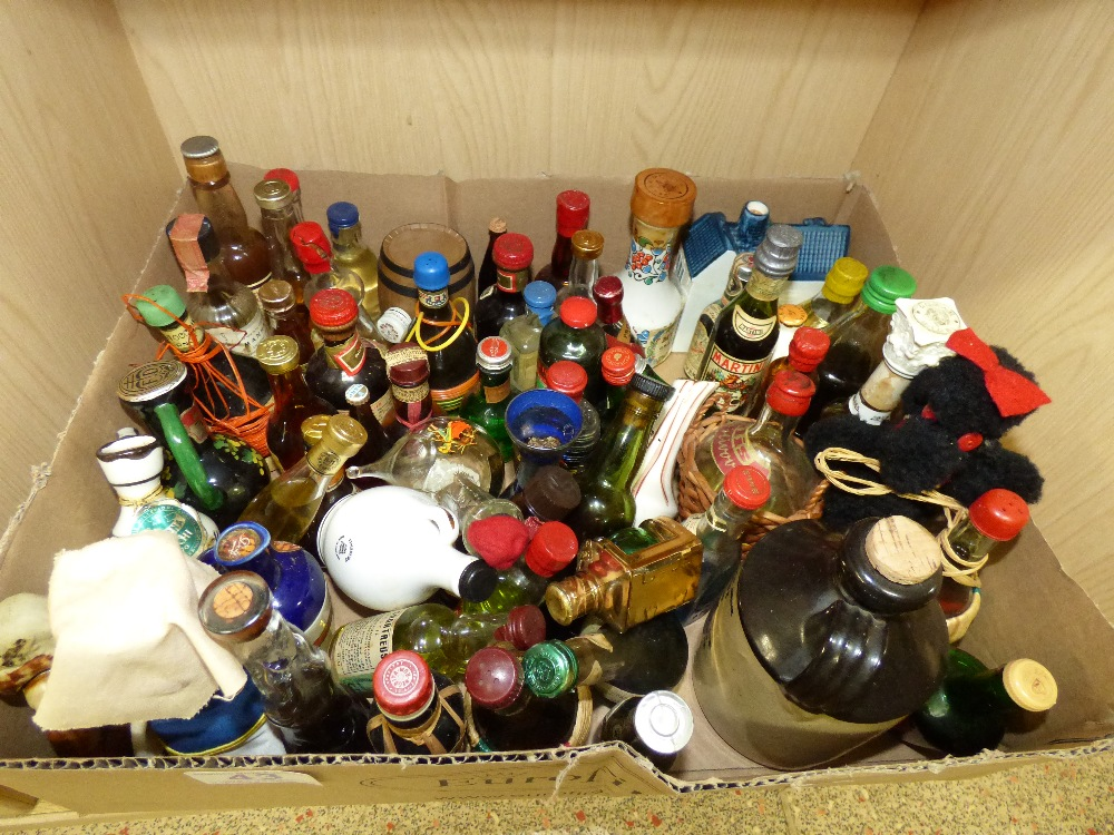 Lot 43 - COLLECTION OF MINIATURE BOTTLES OF ALCOHOL