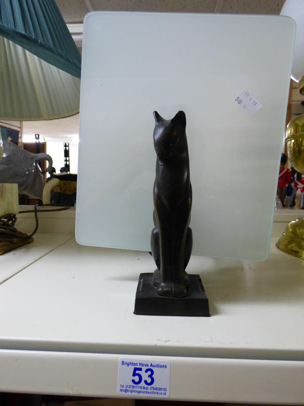 Lot 53 - BLACK CAT TABLE LAMP
