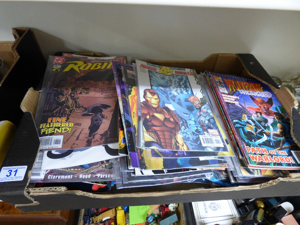 Lot 31 - COLLECTION OF COMICS INCLUDING MARVEL