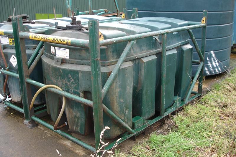 Lot 51 - Titan 2500ltr Bunded Diesel Tank In Lifting Frame