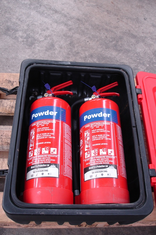 Lot 35 - 2 x Fire Extinguishers in Weather Proof Cabinet