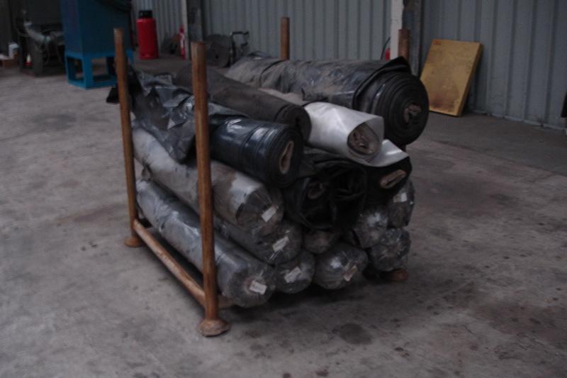 Lot 44 - Pallet of 15 Rolls of Black Visqueen