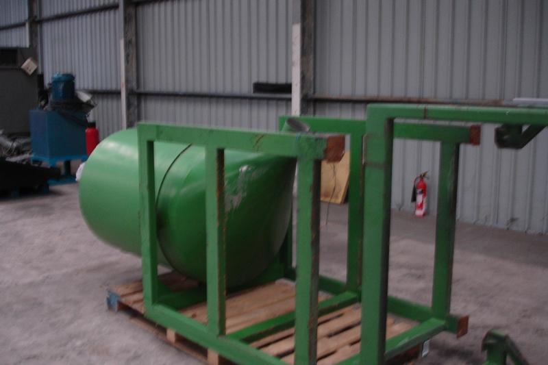 Lot 41 - Large Green Storage Hopper in frame