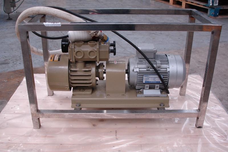 Lot 22 - Vacuum Pump in Stainless Steel Frame