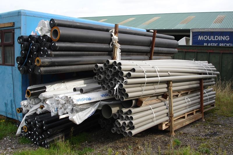 Lot 60 - 3 x stillages of unused plastic pipes