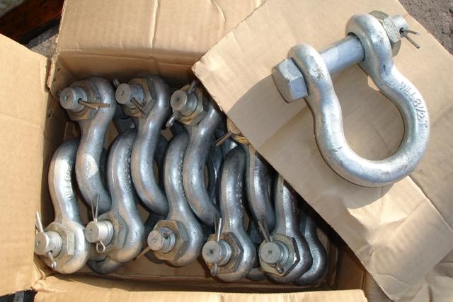Lot 53 - 10 x 8.5 ton Shackles (unused)