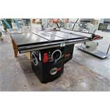 """SAW STOP CB-5320 10"""" TABLE SAW W/FENCE, 5HP/230V/3PH C/W CABINET"""