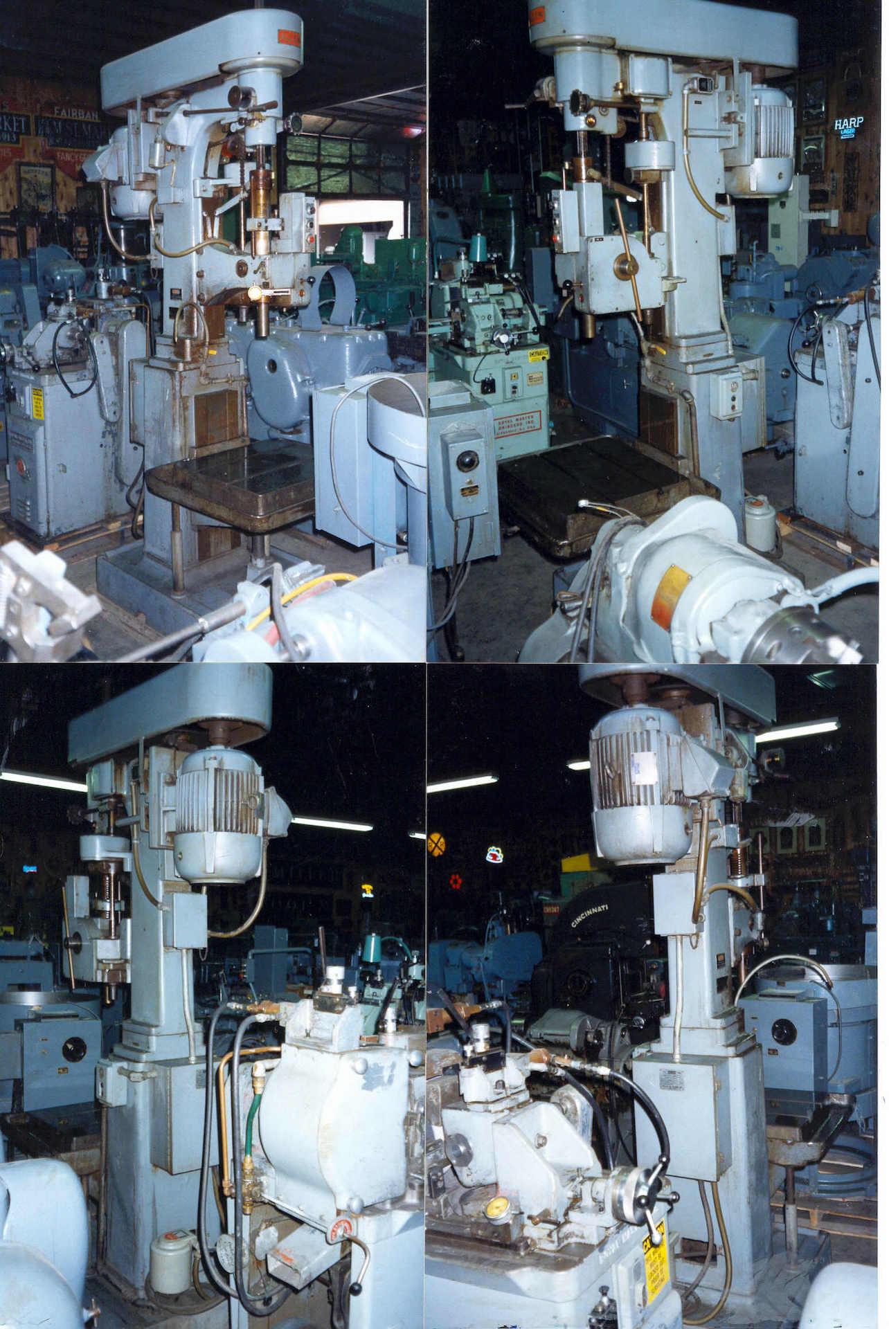ALLEN SINGLE SPINDLE DRILL PRESS, SER# VCDW32421, MFG-1966, 50-1800 RPM, #4 Morse Taper, 5 Hp, Power