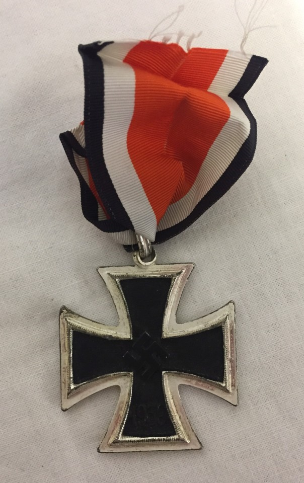 Lot 219 - German WWII pattern a copy Knights Cross of The Iron Cross.