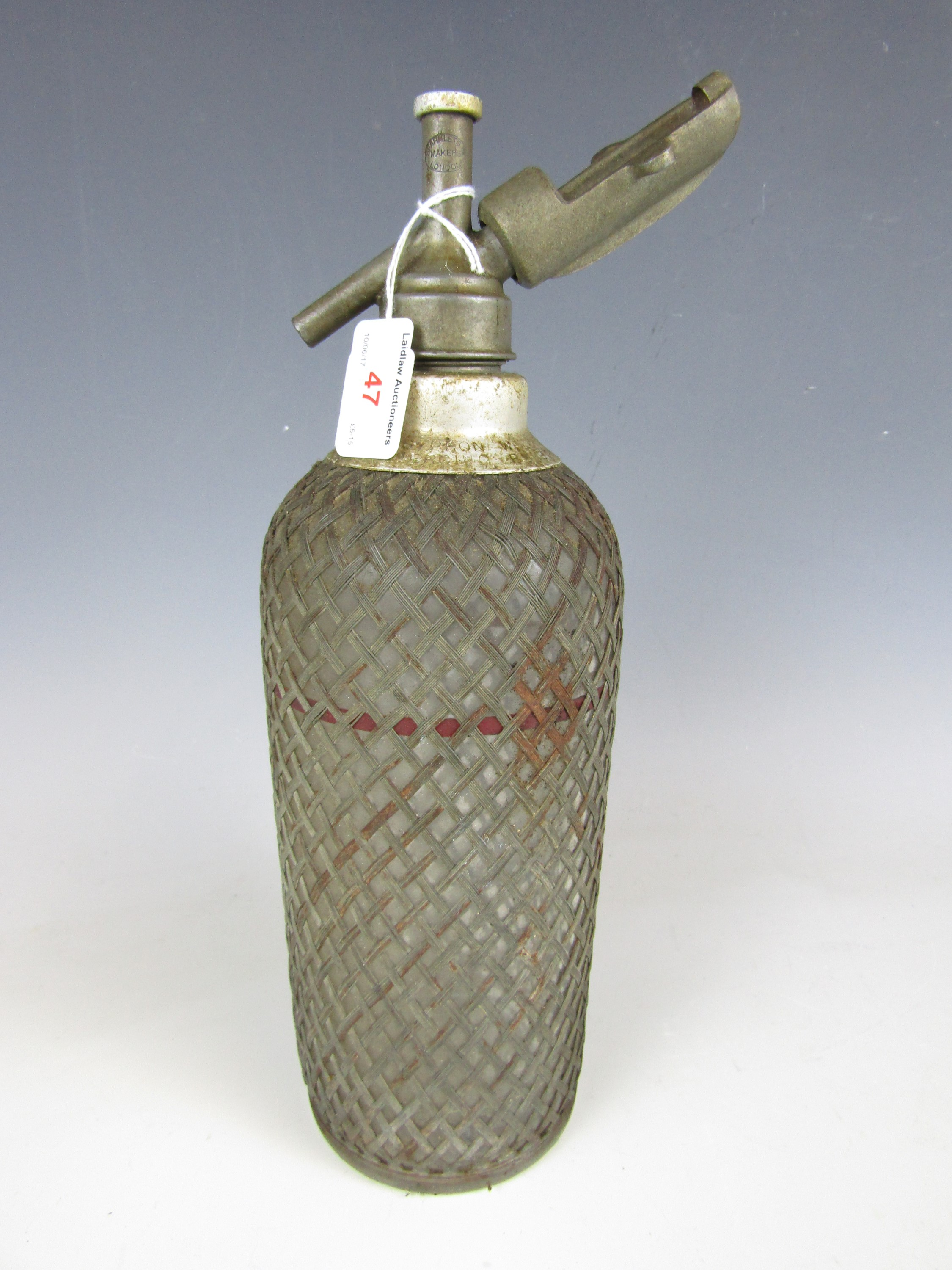 Lot 47 - An early 20th Century Sparklets of London soda syphon