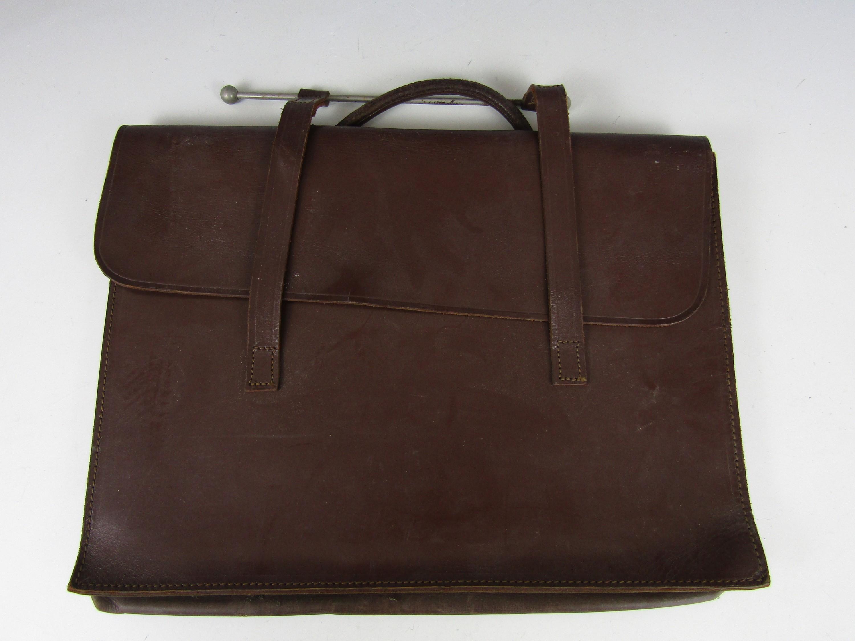 Lot 38A - A vintage leather music satchel