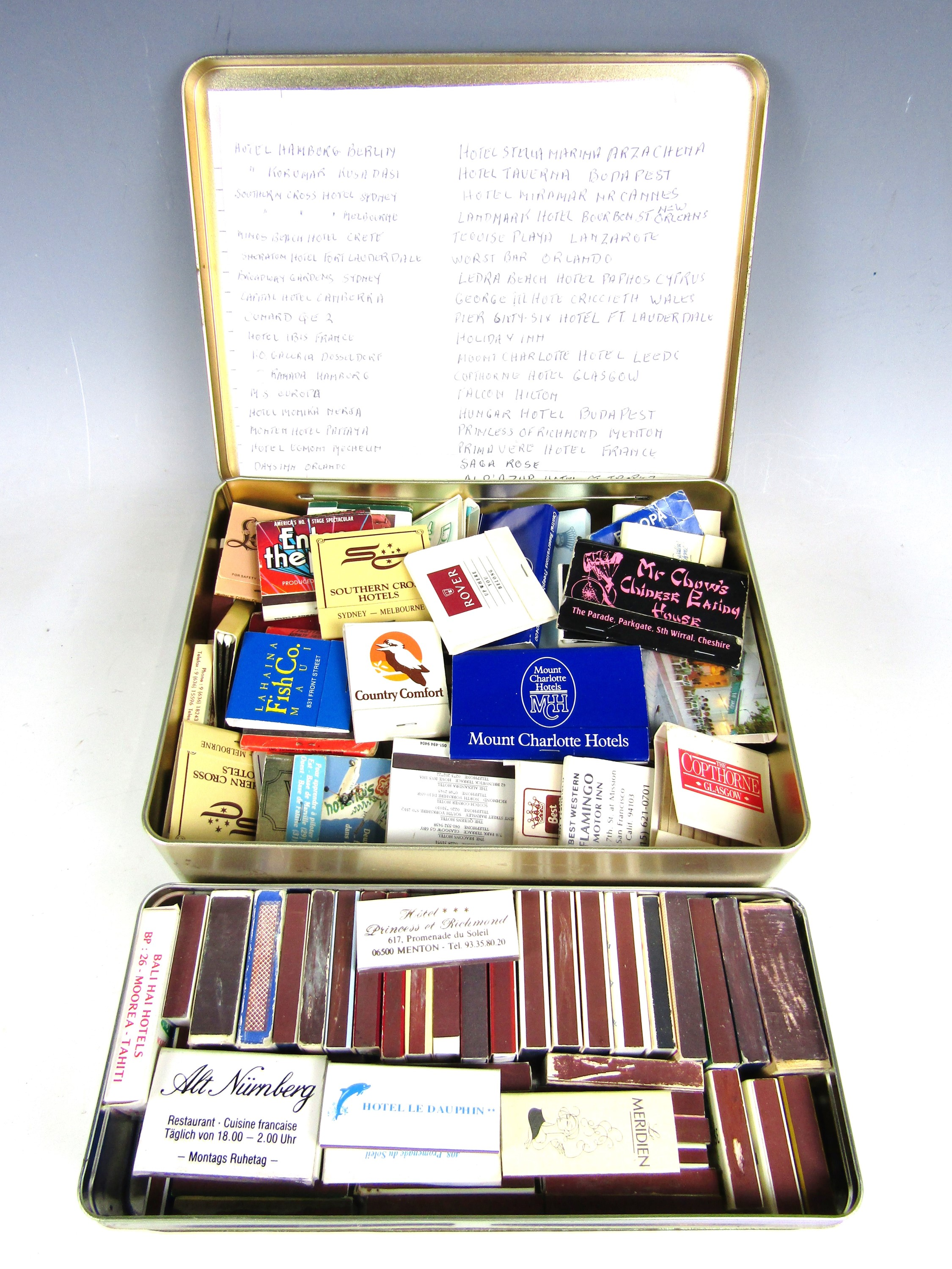 Lot 20 - A large collection of vintage match boxes and match books