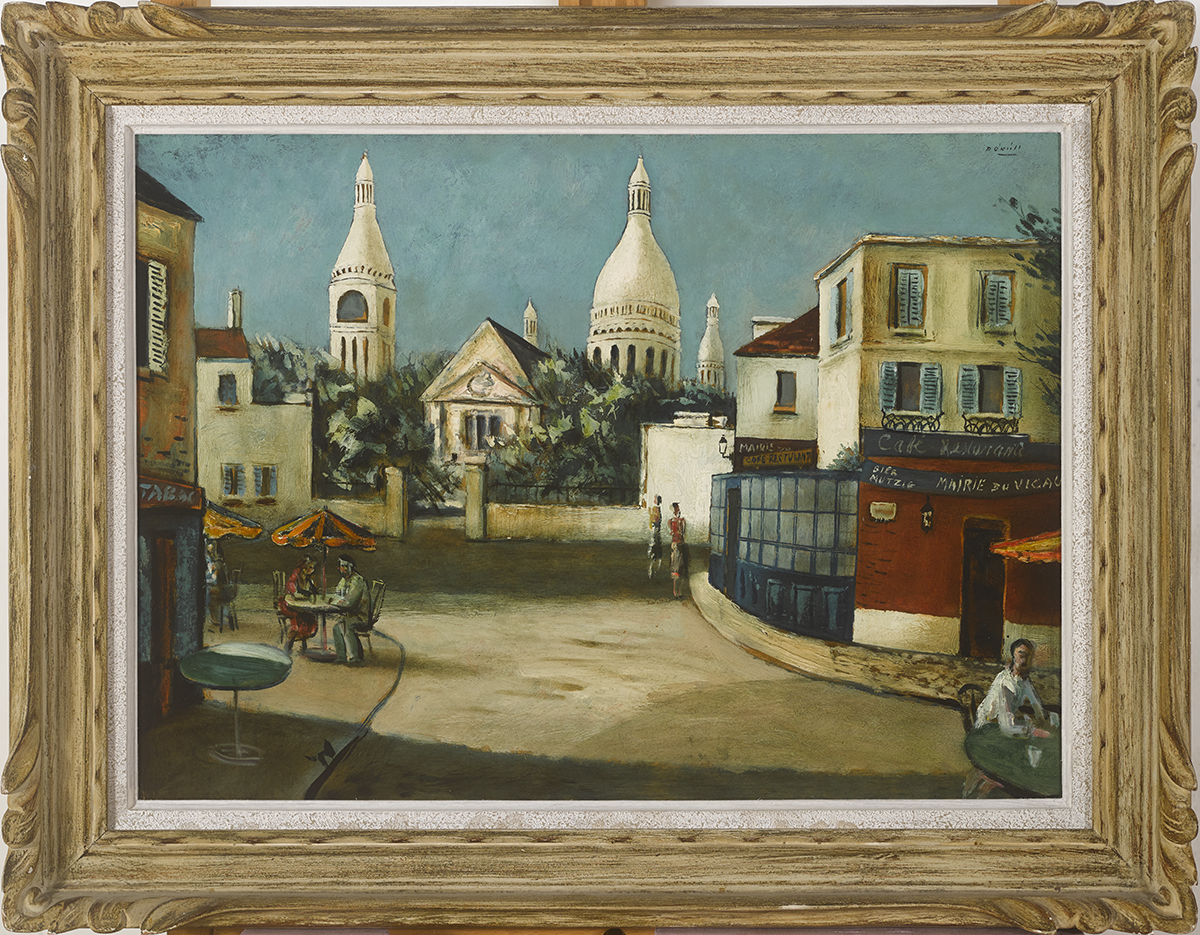 Lot 51 - Daniel O'Neill (1920-1974)PLACE DU TERTRE oil on board signed upper right; titled on Victor