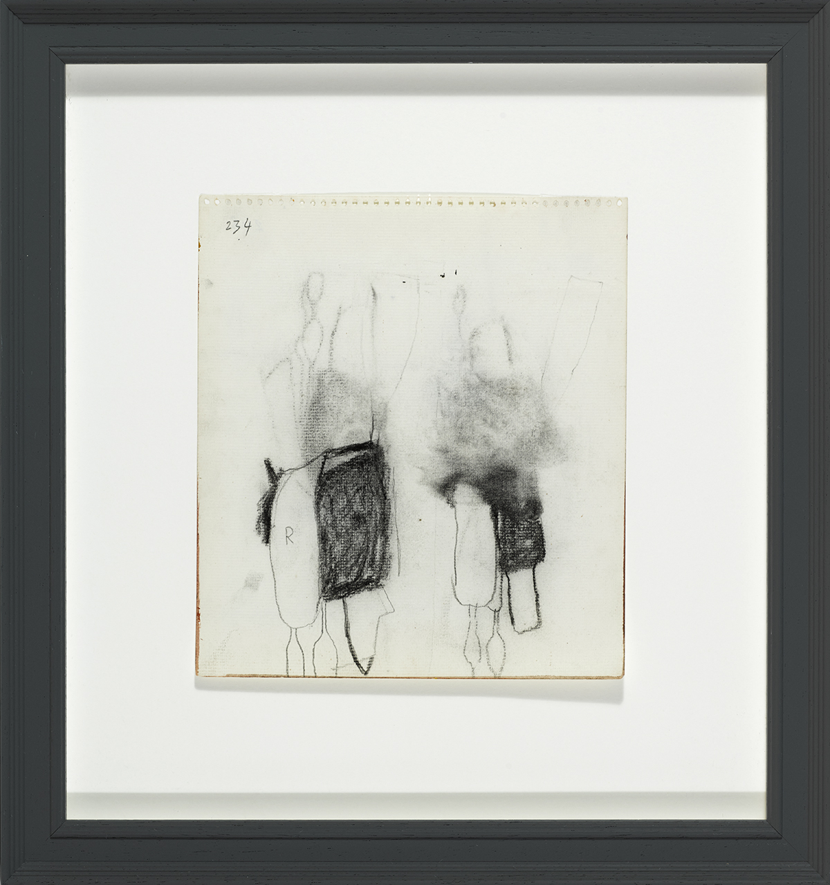 Lot 60 - William Scott CBE RA (1913-1989)STILL LIFE WITH KITCHEN UTENSILS, c. 1960 charcoal on paper 8 by 7.