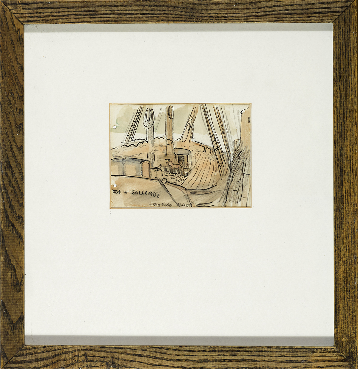 Lot 31 - Jack Butler Yeats RHA (1871-1957)ROSA OF SALCOMBE AT KINGSBRIDGE, DEVON, 1901 pencil, watercolour,