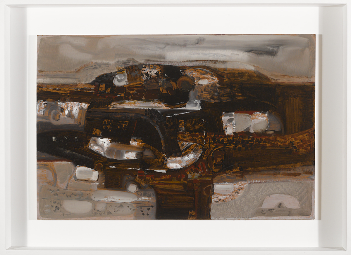 Lot 56 - George Campbell RHA (1917-1979)BOG AND ROCK oil on panel signed lower right 20 by 30in. (50.8 by