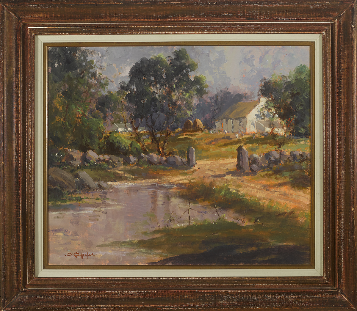 Lot 10 - George K. Gillespie RUA (1924-1995)ON THE ROAD TO FANAD, COUNTY DONEGAL oil on canvas signed lower