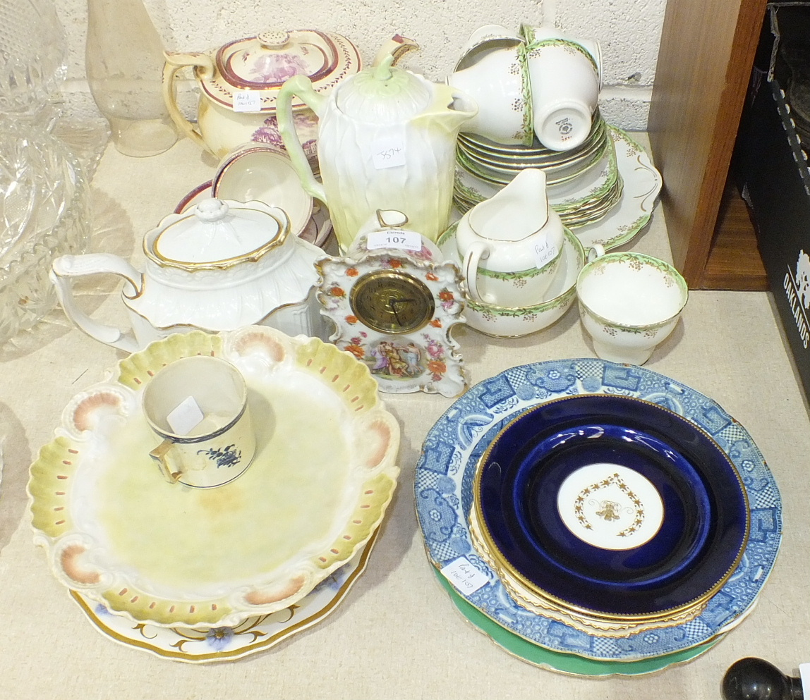 Lot 107 - A collection of various teaware, ornaments and other ceramics.