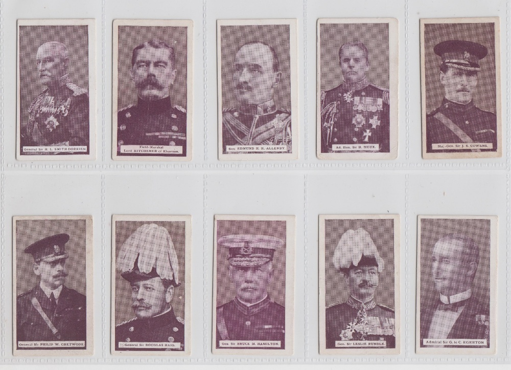Lot 222 - Cigarette cards, Wills (Scissors), Britain's Defenders (green back) (set, 50 cards) (mostly gd)