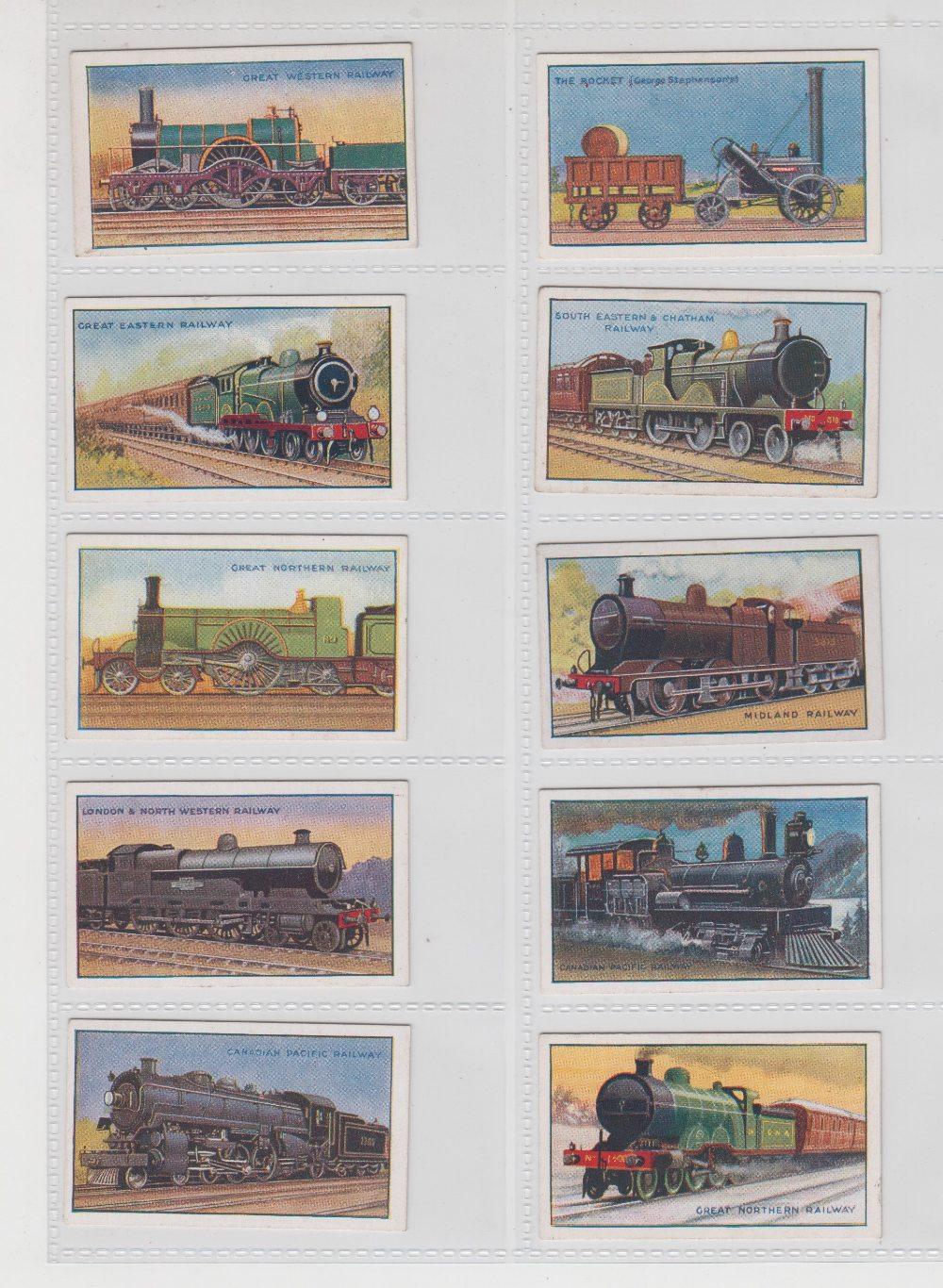 Lot 215 - Cigarette cards, Phillip's, Railway Engines (set, 25 cards) (gd/vg)