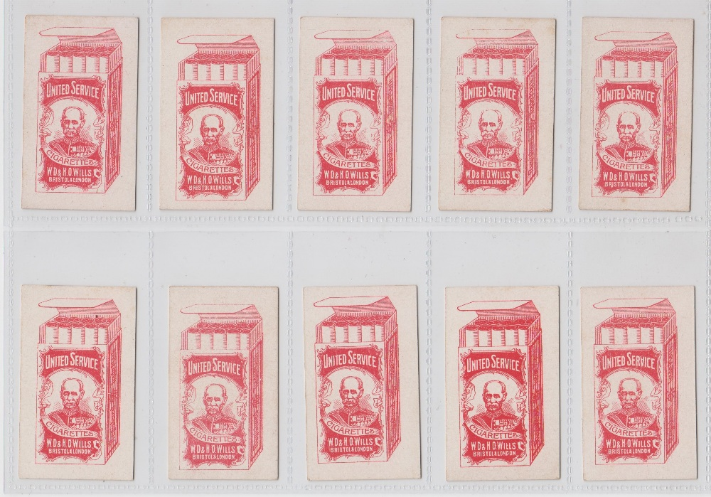 Lot 221 - Cigarette cards, Wills (United Services), Drum Horses (set, 32 cards) (mostly gd/vg)