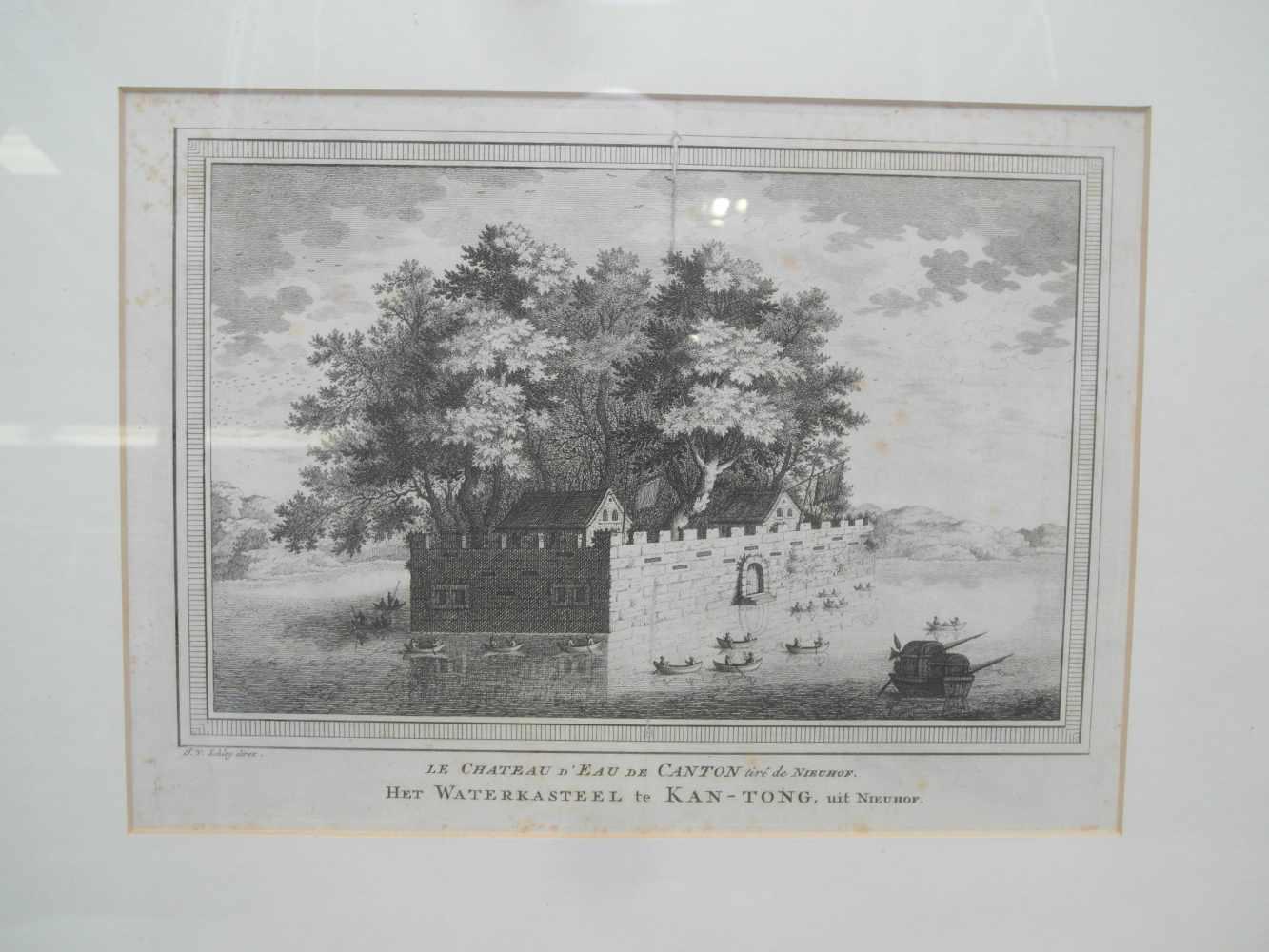 Lot 2035 - ACHTZEHN KUPFERSTICHE MIT ANSICHTEN AUS CHINA. Niederlande. Ca. 1808. Wohl 'Reinier Vinkeles (1741-