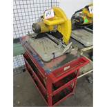 "DEWALT 14"" CHOP SAW, MODEL D28715, W/ CART"