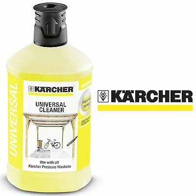 Lot 43014 - V Brand New Karcher 1L Universal Cleaning Fluid With Active Dirt Dissolver For All Types Of