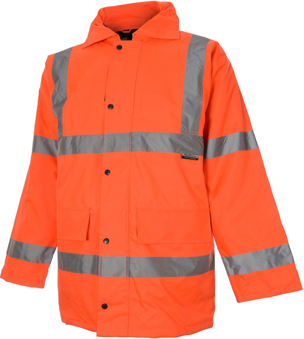 Lot 43057 - V Brand New Orange Hi Viz Parka Coat Size Two Extra Large