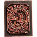 A VERY APPEALING CARVING Wood. China, 19th cent.A carving showing a public servant standing on a