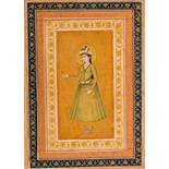 PRINCESS IN CAUCASIAN COURTLY CLOTHING Pain and gold on paper. India, possibly Lucknow, late 18th to