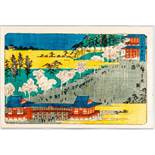 "UTAGAWA HIROSHIGE 歌川広重 (1797 - 1858) Original woodblockrprint. Japan, Ueno Tôeizan 上野東叡山 – """
