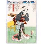 UTAGAWA KUNISADA I 歌川 国貞 (=TOYOKUNI III) 1786 – 1865 Original woodblockrprint. Japan, The kabuki