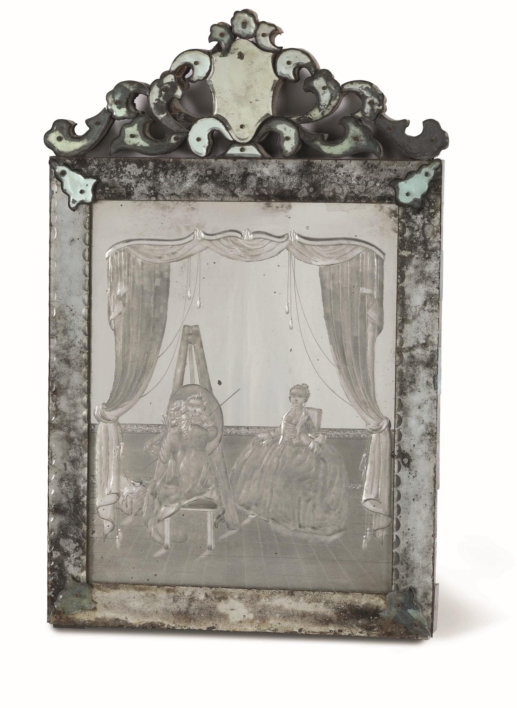 Tre specchiere in vetro di Murano soffiato molato e inciso, Murano(?) seconda metà [...] - Image 3 of 3