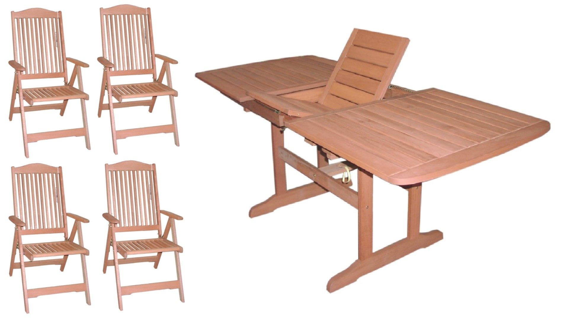 5 piece garden furniture set includes 1 x extending for Furniture 4 a lot less