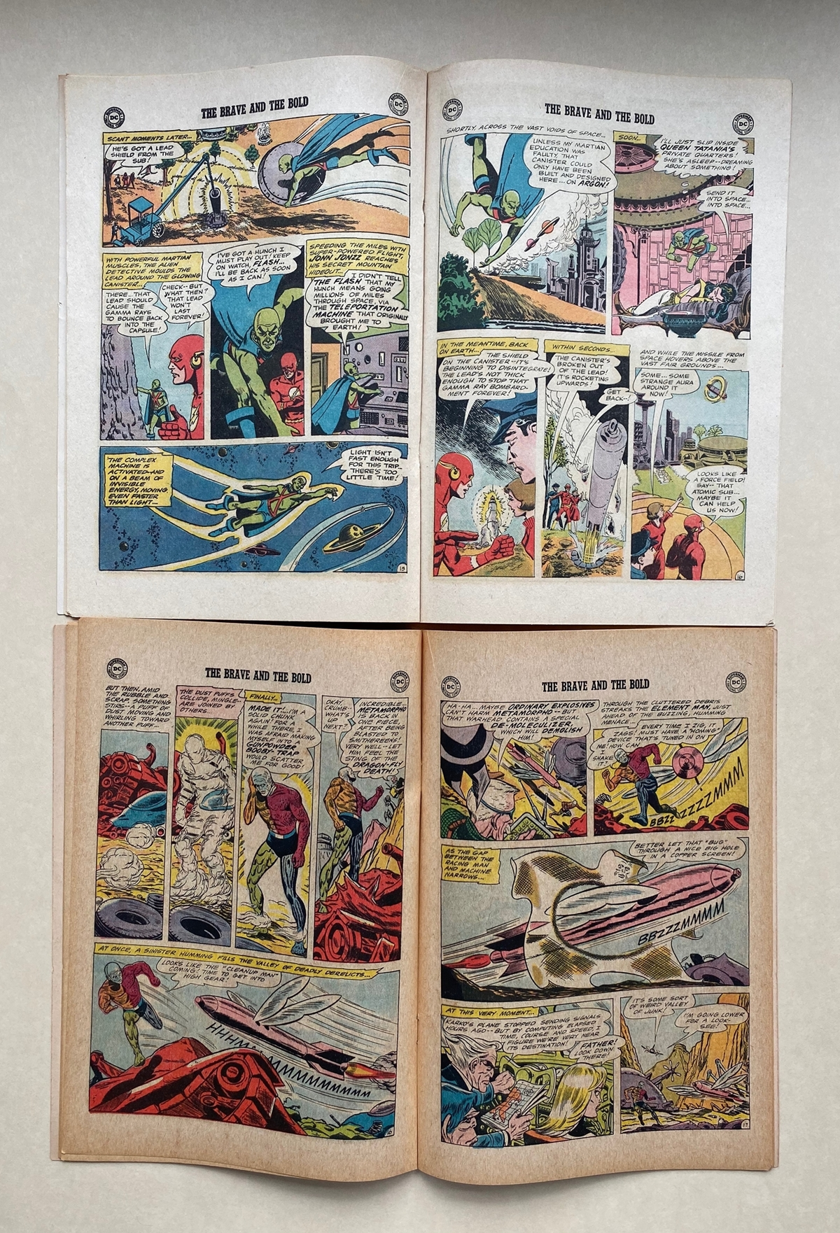 Lot 2163 - BRAVE & BOLD #56, 58 - FLASH, MANHUNTER FROM MARS, METAMORPHO (2 in Lot) - (1964 - DC) FN/VFN (Cents