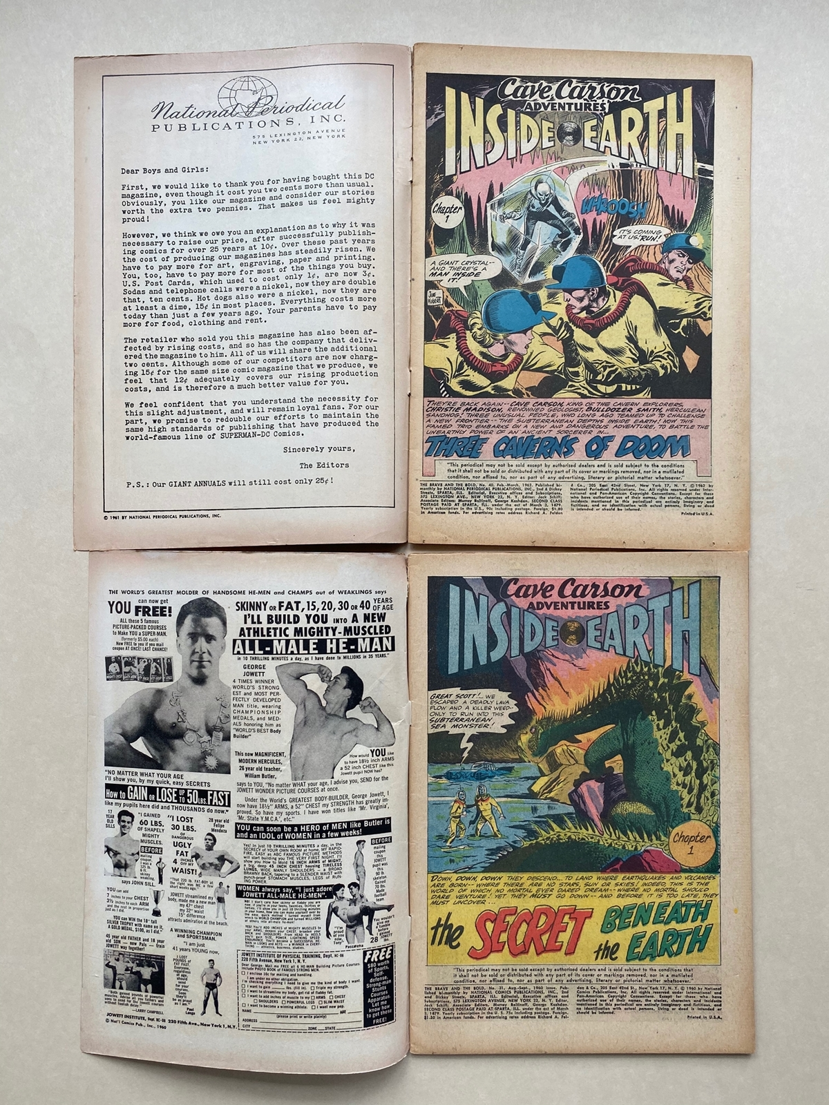 Lot 2159 - BRAVE & BOLD #31, 40 - CAVE CARSON (2 in Lot) - (1960 - DC) VG (Cents Copy) - Run includes First
