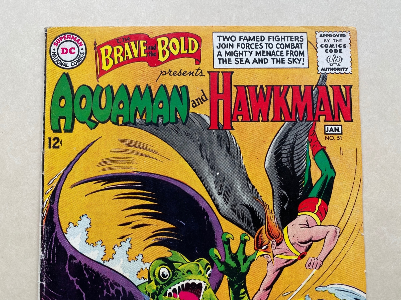 BRAVE & BOLD #51 - AQUAMAN & HAWKMAN - (1964 - DC) FN/VFN (Cents Copy) - Pre-dates Hawkman #1 - - Image 3 of 10