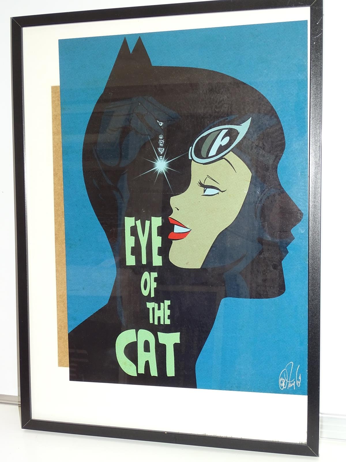 "Lot 2193 - CATWOMAN ""EYE OF THE CAT"" PRINT (2013) - SIGNED BY DES TAYLOR - Offered framed & glazed with print"