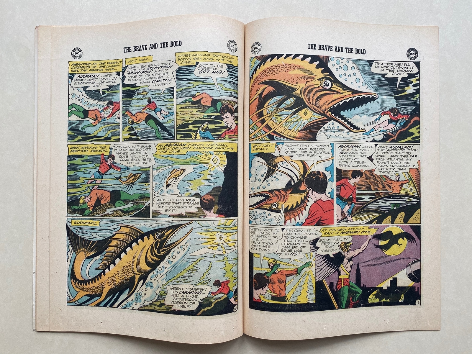 BRAVE & BOLD #51 - AQUAMAN & HAWKMAN - (1964 - DC) FN/VFN (Cents Copy) - Pre-dates Hawkman #1 - - Image 8 of 10