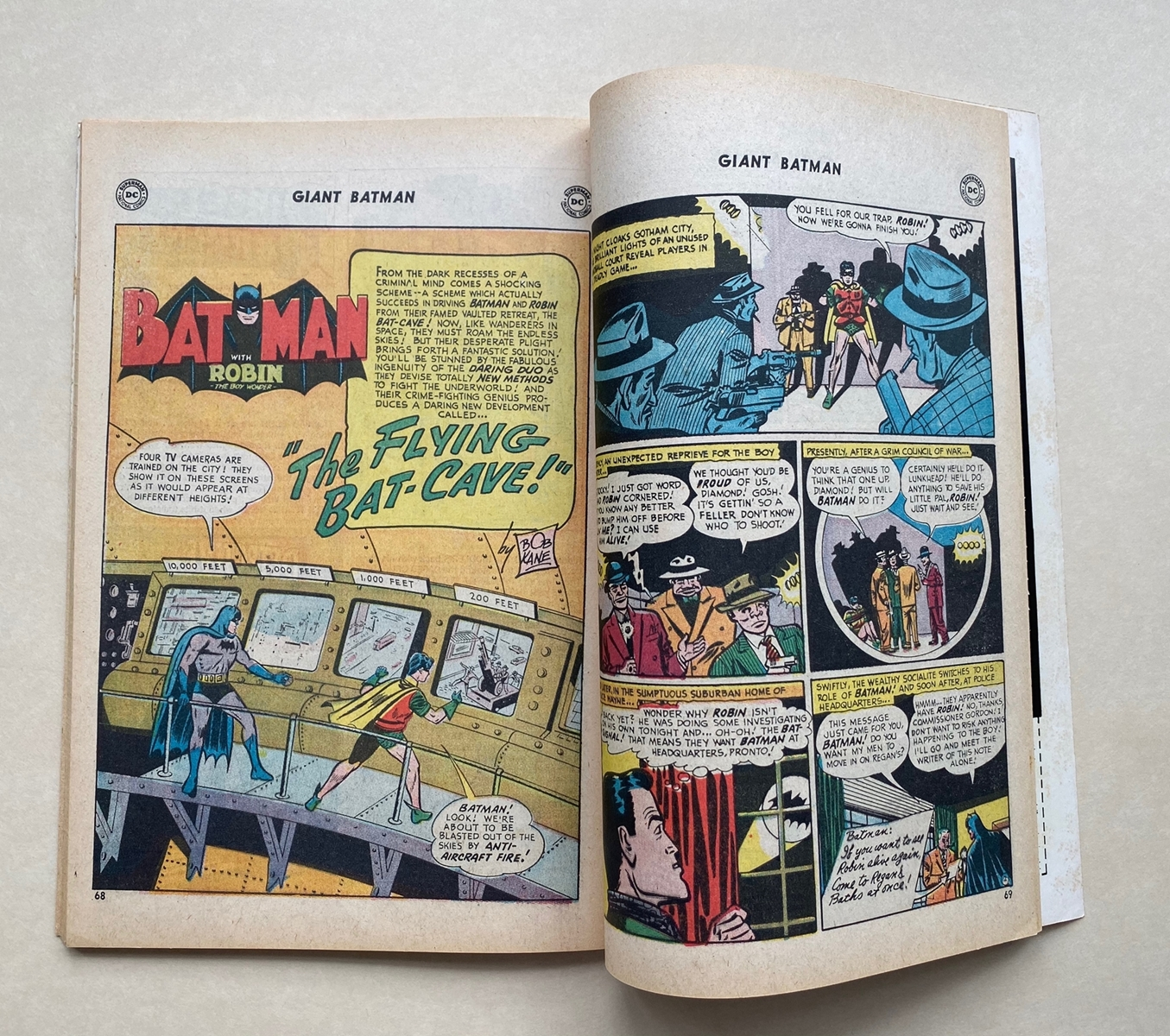 Lot 2190 - BATMAN #203 - (1968 - DC) FN/VFN (Cents Copy/Pence Stamp) - Giant-Size issue featuring reprinted