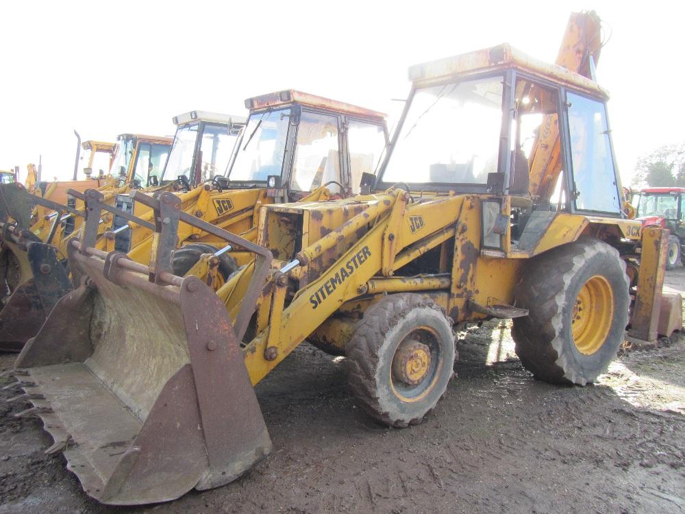 Jcb 3cx 4wd Sitemaster Digger C  W Black Cab  4 In 1 Extradig  Perkins Engine Ser No 312838