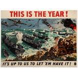 War Poster WWII D Day Landing Normandie This is the Year