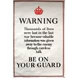 War Poster Be On Your Guard WWII UK Spy Keep Calm
