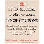 War Poster British WWII Food Coupons Rationing Home Front