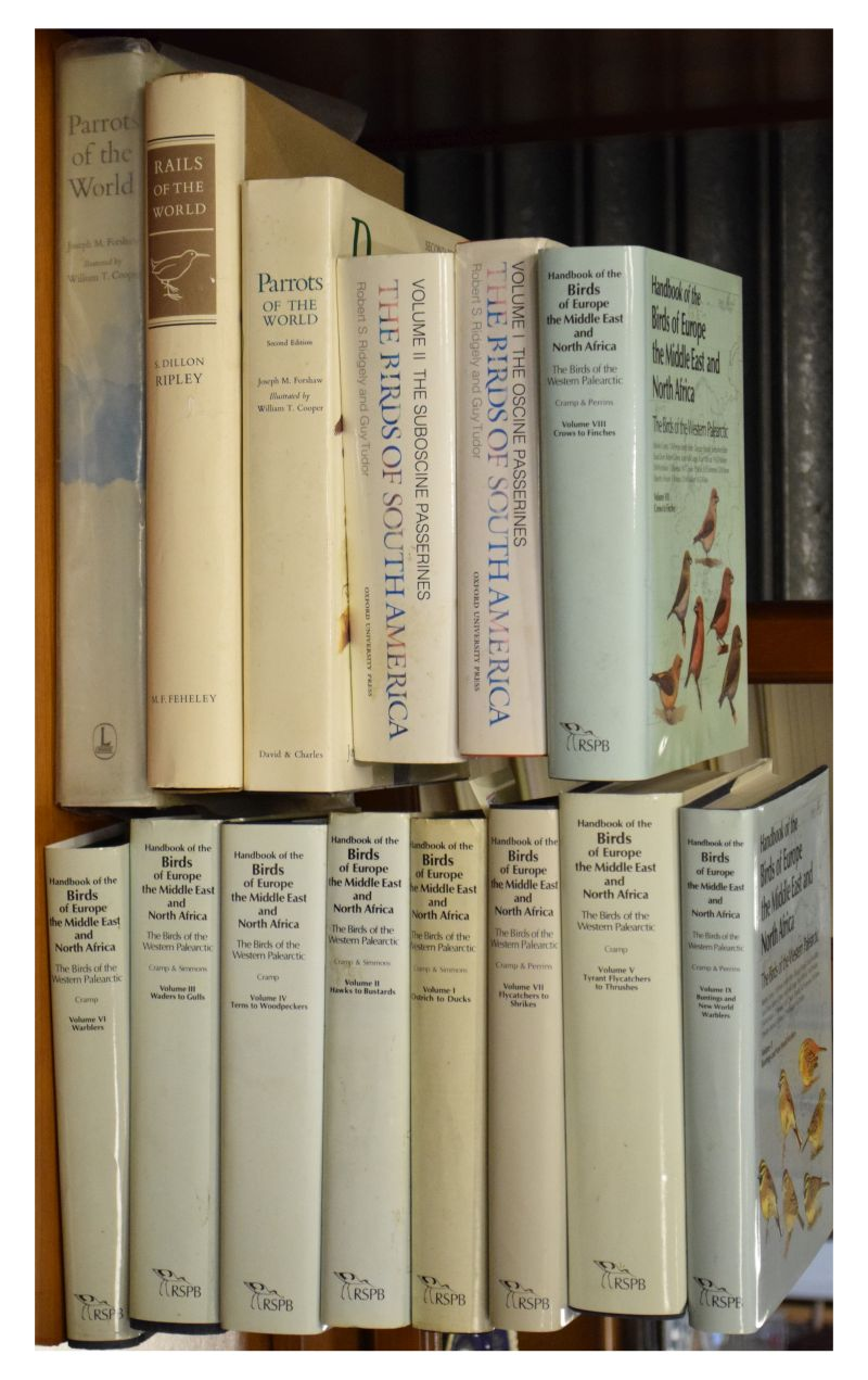 Lot 289 - Books - Fourteen books all relating to Birds comprising: volumes 1-9 of The Handbook of Birds of