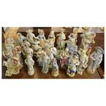Large quantity of bisque porcelain figures