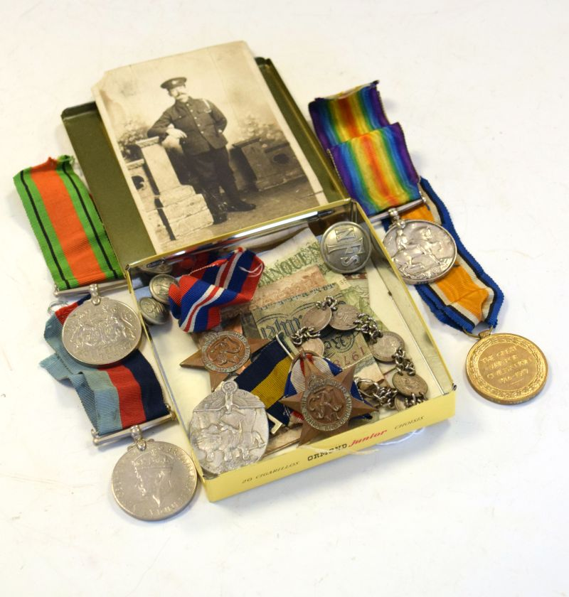 Lot 262 - First World War medal pair comprising: War Medal and Victory Medal awarded to 195798 Spr.A.Powell.